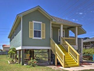 2BR Galveston Home w/ Elevator - Walk to Beach!