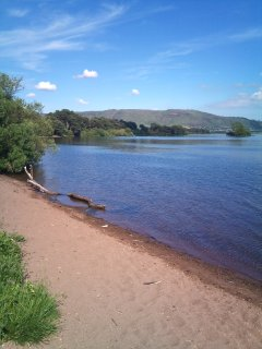 Burleigh Sands is a lovely beach on the Loch, just 5 mins away. Perfect for paddling & sand castles!