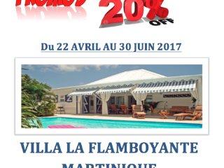 VILLA LA FLAMBOYANTE 4 **** &  4 Clésvacances, Sainte- Anne