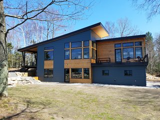 Beautiful Modern Home w/ Private Lk MI Beachfront, Manistee
