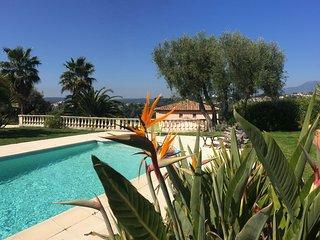 Villa 10 pers Vue panoramique Piscine privée chauffée, Cagnes-sur-Mer