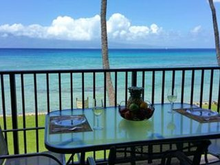 PAPAKEA BEACH RESORT #F210, OCEANFRONT UNIT! ADJACENT TO NORTH KA'ANAPALI BEACH