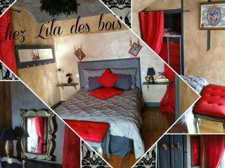 Suite baroque 1 a 4 personnes  Chez Lila des bois