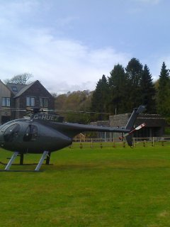 Swan Hotel has a helicopter landing area - arrive in style!