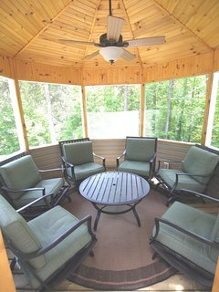 Screened-in gazebo- off of front deck