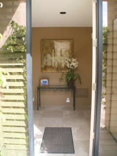Entry.  Bedrooms are on either side of entry.