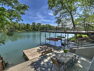Waterfront 'Guadalupe River Lodge' 8BR Seguin Home