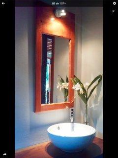 First floor modern half bath