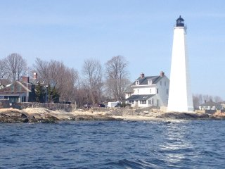 Waterfront property by 1801 lighthouse, New London
