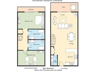 2 Bedroom unit perfect for summer vacation at Wyndham Newport Overlook, Jamestown