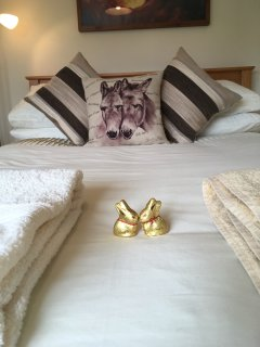 Easter bunnies ready to greet our first guests!