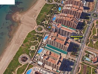 Apartamento 1a Linea de mar en Marina d'Or con cesped y playa  [Familiar]