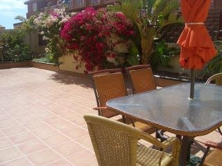 Lovely spacious, private, pretty patio with plenty of space to relax