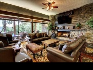 A Luxury Cabin lodge downtown Helen Ga sleeps 25+