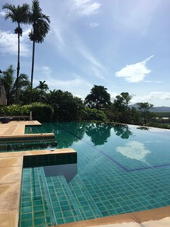 Stunning views from the 20m infinity pool