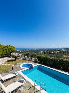 The Villa offers amazing sea views! Enjoy the sunset with a refreshing drink by the pool!