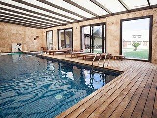 Villa Olivar del Desierto para grupos Piscina climatizada cubierta,sauna,yacusi.