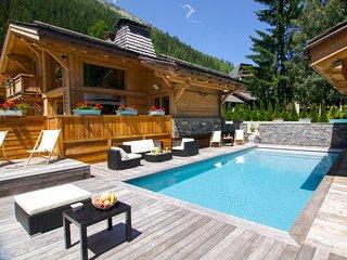 Chalet Terre 5*luxe a Chamonix: Piscine et Spa