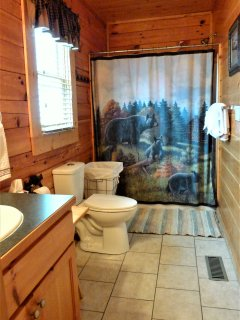 Full bathroom on the main level