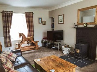 DERMOT COTTAGE, terraced, woodburning stove, conservatory in Gatehouse of Fleet,