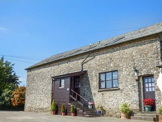 MILL BARN, barn conversion, lovely views, woodburner, shared patio and play
