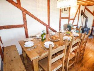 MILL BARN, barn conversion, lovely views, woodburner, shared patio and play