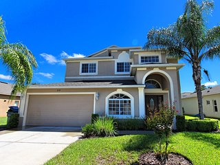 Marvelous 5BR 3Bath pool home with 1King / 3Queen beds & game room from $188/nt