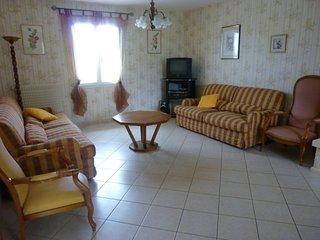 La partie salon et le canapé-lit