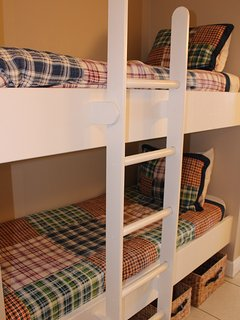 Bunk beds in the hallway for kiddos!