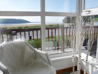 Living room views across to Pembrey and the Gower Peninsula