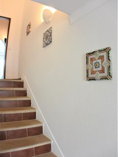 Detail of the stairway that will bring you to the first floor and to the first en-suite room