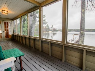 Lakefront home w/ screened porch & dock on Sebago Lake Basin - close to Portland