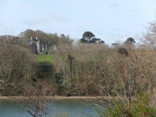de la terrasse, vue sur l'aber et château