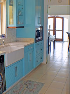 A View of the Caribbean from every room, even the Pretty new kitchen is a delight.