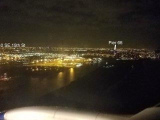 Night view landing at FLL. (Shot from plane.)