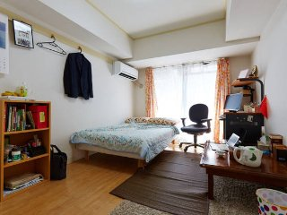 Fast access to Tokyo, Small house with living room.