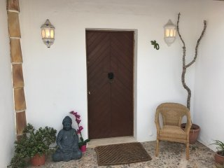 nice antique door to welcome you to the family villa