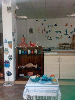 ceramic artist's workshop is close to us