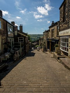 Haworth Main Street has lots of quirky shops, traditional tea rooms and very good pubs