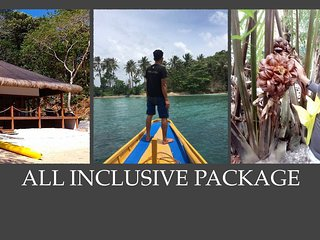 El Nido Large Beachfront Villa - ALL INCLUSIVE PACKAGE - Private Peninsula, Taytay
