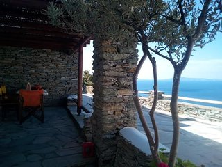 Andros Island Mountain LODGE Sleeps 4 Sea Views Swimming Pool