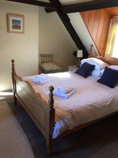 The double bedroom on top floor