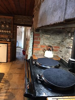 AGA and looking back to the utility room