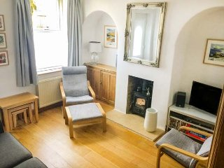 21 PARK ROAD, woodburner, large lawned garden, second sitting room, in Pateley B