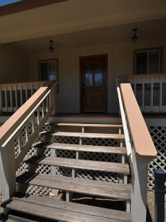 Front exterior stairway to the main entrance, Unit 4 Lot 45 Casa Del Lago, 200yds to the Lake Lodge Beach Pine Mountain...