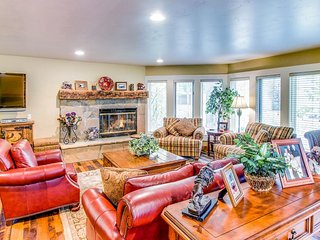 Marvelous riverfront home w/ private hot tub & easy ski access!
