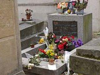 """kyrkogården Père Lachaise """"Jim Morrison"""" vid 10 mn från lägenheten"""