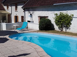 Holiday home in a French village with private swimming pool