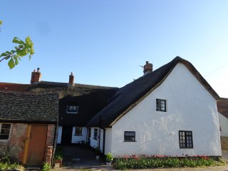 Thatched 17th century cottage.