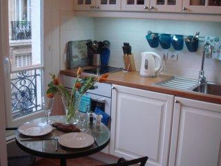Stylish studio with a separate kitchen, featured on house hunters internati